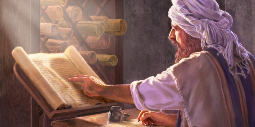 Image result for image of a christian scribe copying a text