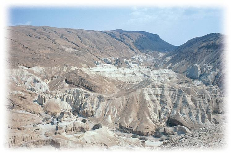 Rugged Terrain Characteristic of the Wilderness of Judah
