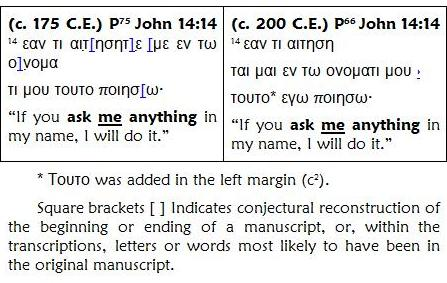 John 14.14 Textual Criticism