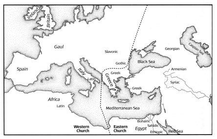 Locations of the Origins of Versions