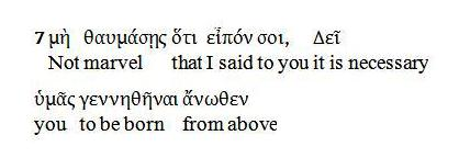 Interlinear John 3.7