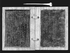 Roman wax tablet and stylus