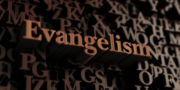 Evangelism - Wooden 3d rendered letters/message