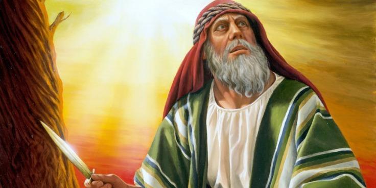 Abraham sacrifices isaac-