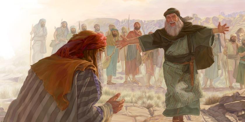 Jacob and Esau Make Peace