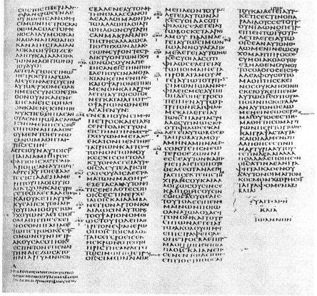 John 21.1b-25 from Codex Sinaiticus (fourth century) – British Library