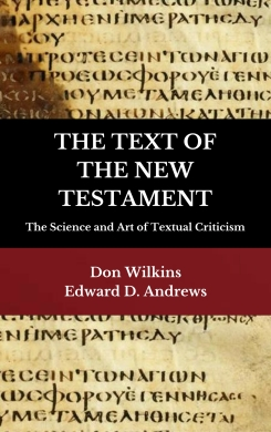 THE TEXT OF THE NEW TESTAMENT