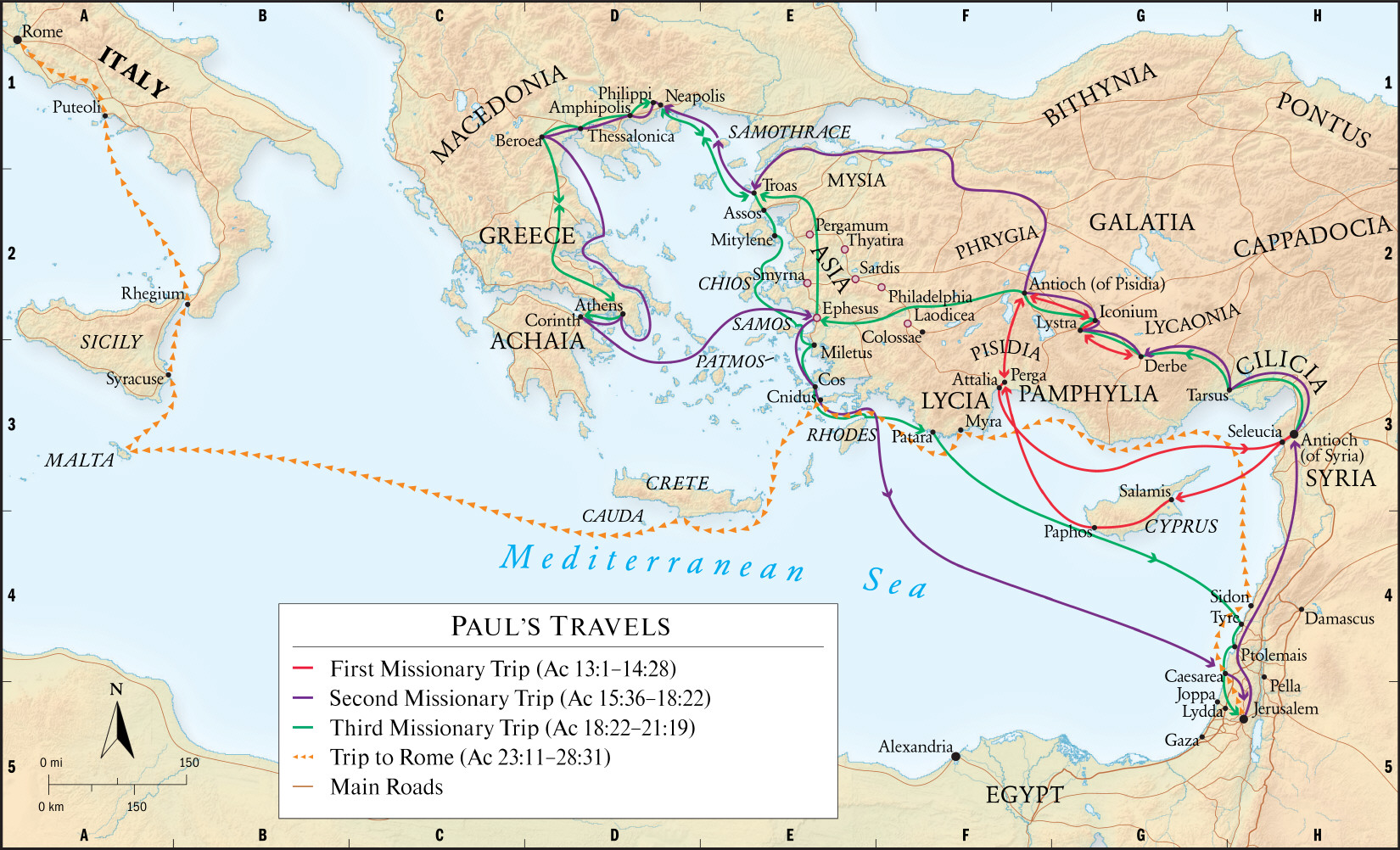 THE APOSTLE PAUL His Missionary Travels – Christian