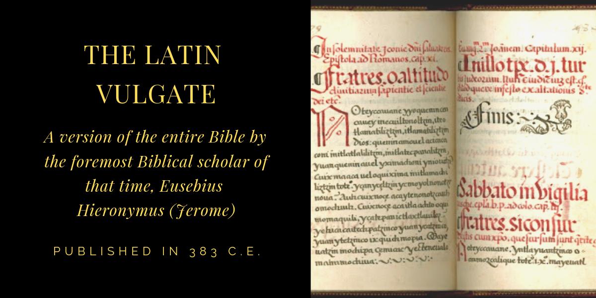 THE LATIN VULGATE (Vulgata Latina) Textual Symbol vg
