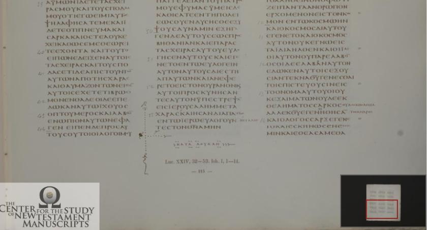 Codex Vaticanus Luke Ending