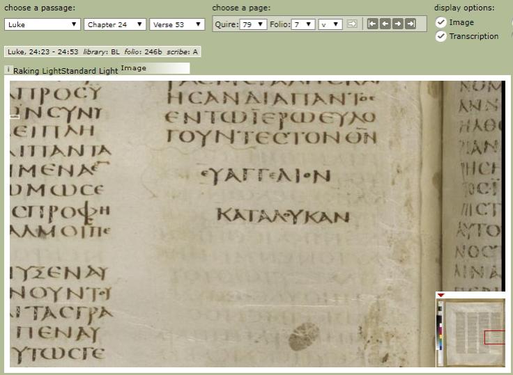 Luke 24.53 Codex Sinaiticus
