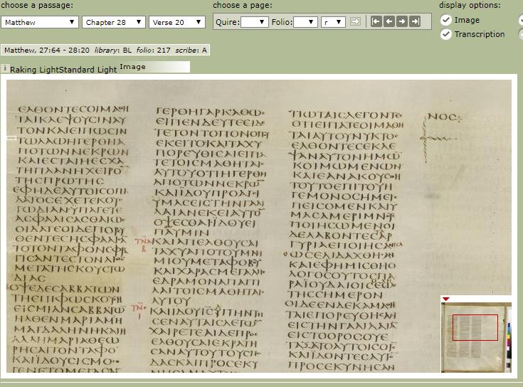 Matthew 28.20 Sinaiticus