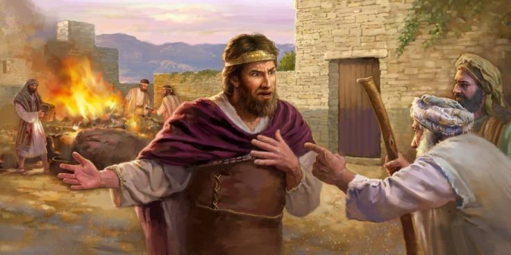 Samuel in Gilgal rebuked Saul