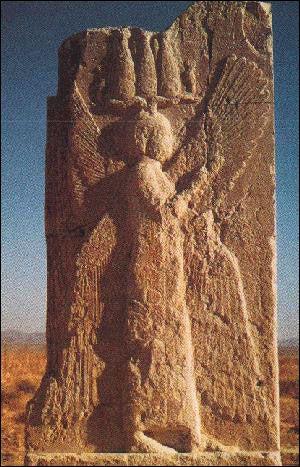Cyrus in Persia--His Bas-relief