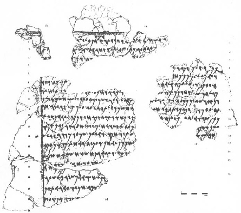 Facsimile of the opening section of the Balaam text from Tell Deir Alia