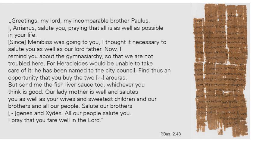 Papyrus 3 Christian Letter
