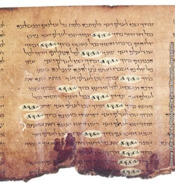 Psalms in a Dead Sea Scroll