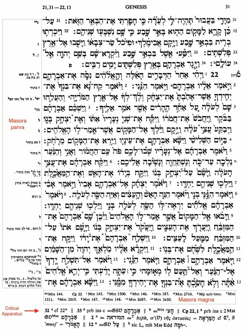BHS p 31 - biblia hebraica stuttgartensia