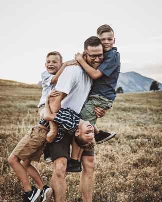 photo of happy family
