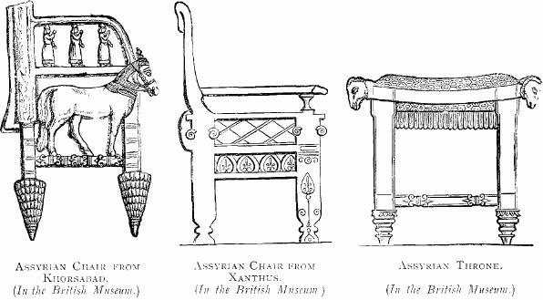 Chairs_From_Khorsabad_and_Xanthus_and_Assyrian_Throne